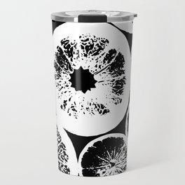 Citrus Black & White Travel Mug