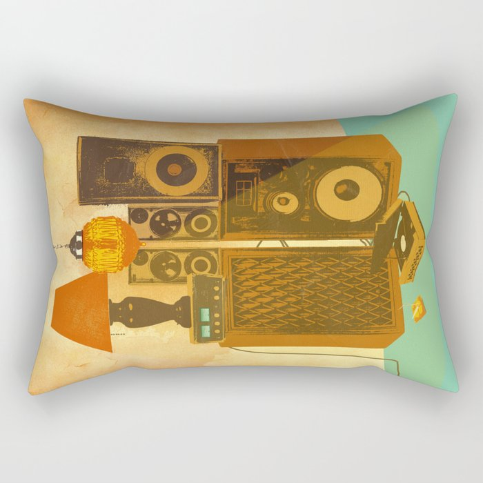 RECORD ROOM Rectangular Pillow