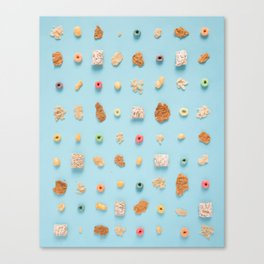 Cereal Flatlay Canvas Print