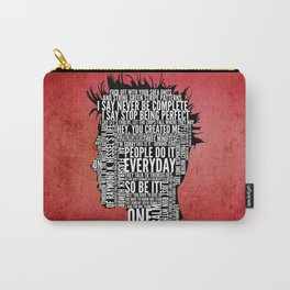 Typography Tyler Durden Uncensored Carry-All Pouch