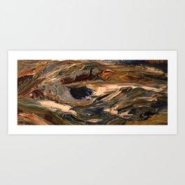 detail oil painting Art Print