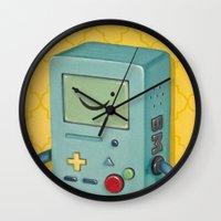 bmo Wall Clocks featuring BMO by HeatherAckley