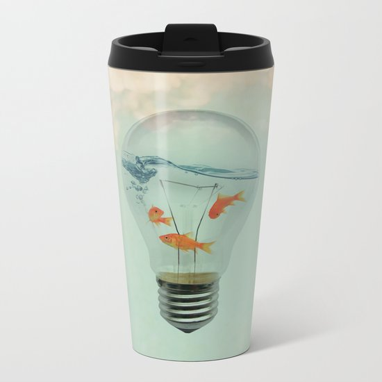 Ideas and Goldfish (RM) Metal Travel Mug