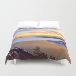 Lake Baikal and Angara River Duvet Cover