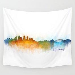 Sydney City Skyline Hq v3 Wall Tapestry