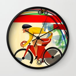 Track Cycling Championship Poster Cycle Bike Wall Clock