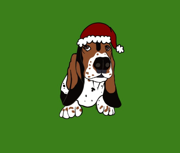 A Basset Full of Christmas Metal Travel Mug
