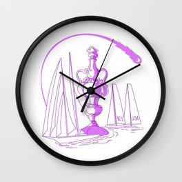 Yachting Championship Cup Drawing Wall Clock