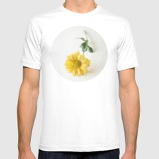 Yellow Flower StillLife White SMALL Mens Fitted Tee