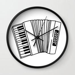Accordion Player Melodeon Piano Accordionist Gift Wall Clock