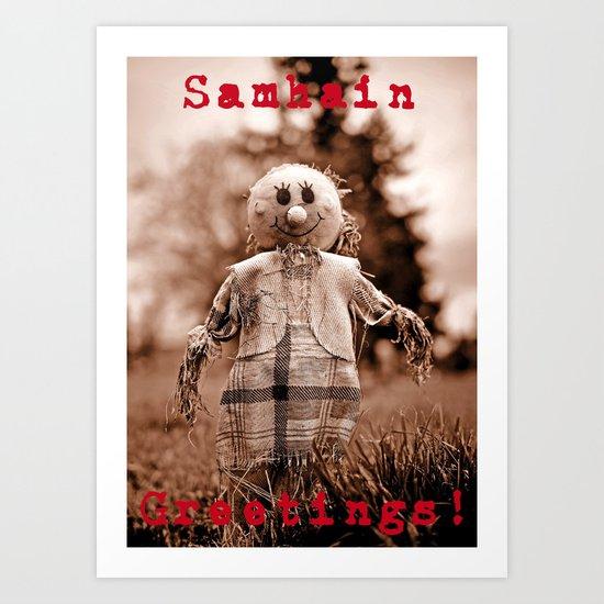 Samhain Greetings! Art Print