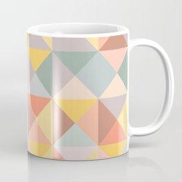 Earthy Pastel Triangles Coffee Mug