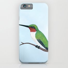 the studious male (ruby-throated hummingbird) iPhone Case