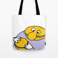 eat Tote Bags featuring Eat Eat by wof!