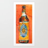 ale giorgini Art Prints featuring BEER ART - Oberon Ale by Dorrie Rifkin Watercolors