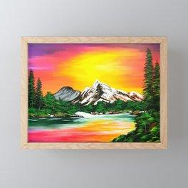 Sunset Mountains Framed Mini Art Print