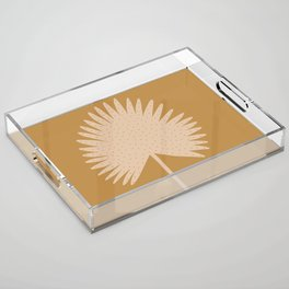 Palm Leaf Acrylic Tray