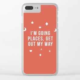 Out My Way Clear iPhone Case