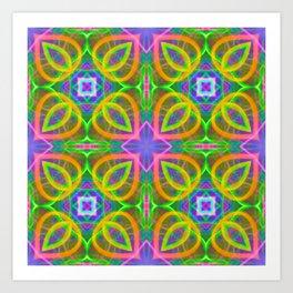 Bubbles 7 plaid pattern Art Print