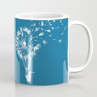 wind Mugs featuring Going where the wind blows by Picomodi