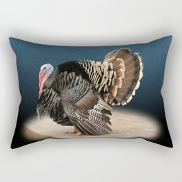 Spotlight on a Male Turkey Rectangular Pillow
