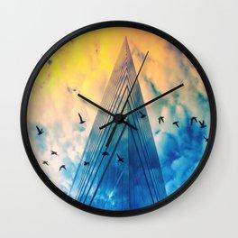 Düsseldorf Stadttor Birdys Crossing Wall Clock