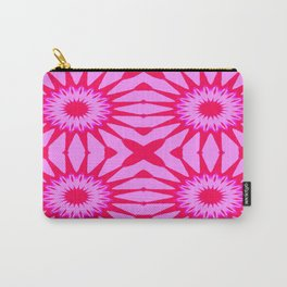 Fuchsia Pink Flowers Mandala Carry-All Pouch