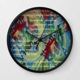 And Now I'll Look Away Wall Clock