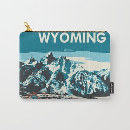 Ski Jackson Hole Wyoming Vintage Ski Poster Carry-All Pouch