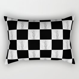 Checkerboard Pussy Rectangular Pillow