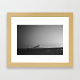 Montaña Roja Framed Art Print