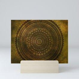 Lime Brown Mandala Mini Art Print