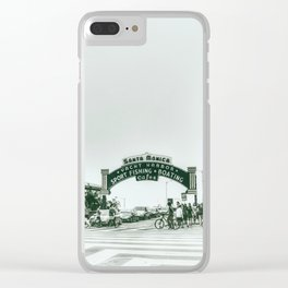 Santa Monica . Clear iPhone Case