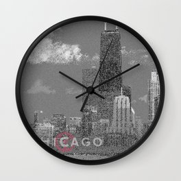 Chicago Lakefront - Grey Wall Clock