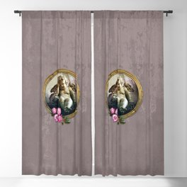 Angel Skull and Roses in a Frame-Death Blackout Curtain