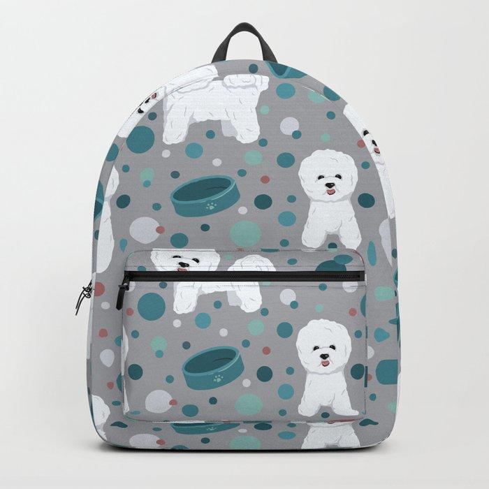Bichon Frise dog pattern Backpack