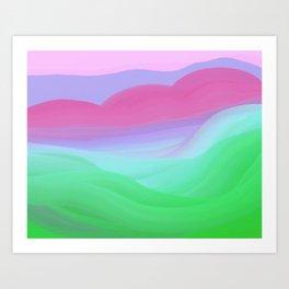 Gentle Pink Hills Art Print