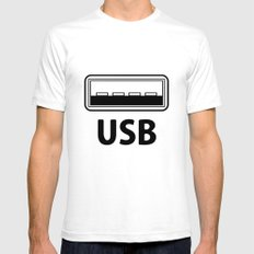 USB SMALL Mens Fitted Tee White