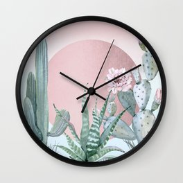 Desert Sunset by Nature Magick Wall Clock