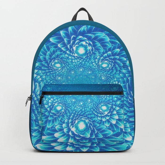 Fresh Modern Green Warp Cactus Pattern Fractal Art! Backpack