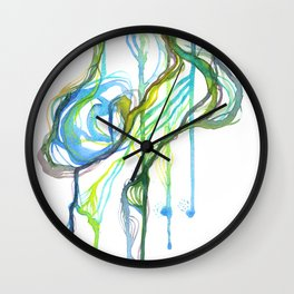 Aqua Trickle Wall Clock