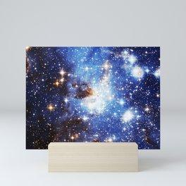 Blue Galaxy Mini Art Print