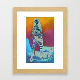 Merciless Tattooed Pirate queen  Framed Art Print