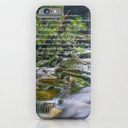 Lao Tsu Verse on Waterfall iPhone Case