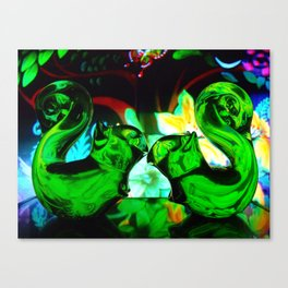 Squirrelly Love Canvas Print