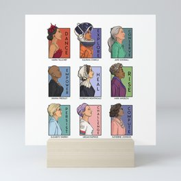 She Series - Real Women Collage Version 2 Mini Art Print