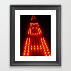 Enter the Void Red Framed Art Print