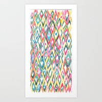 ikat Art Prints featuring IKAT by  Ray Athi