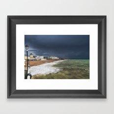 Storm Coming Worthing Beach Framed Art Print