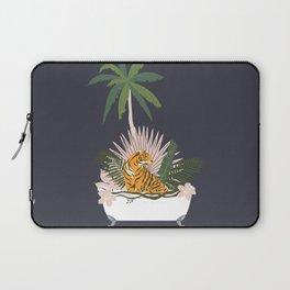 Jungle Spa At Night Laptop Sleeve